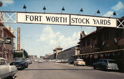 Entrance to Fort Worth Stockyards Postcard