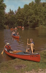Canoes on White River