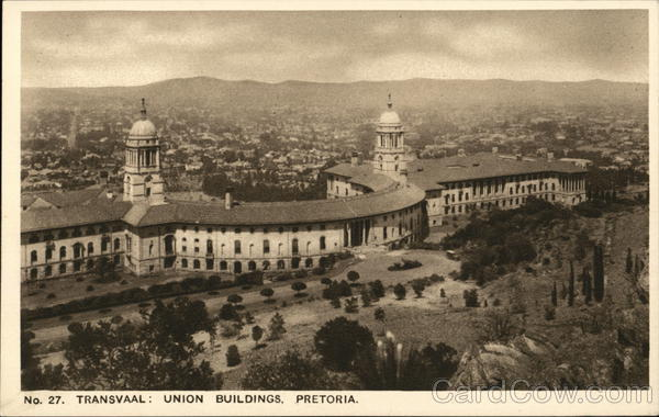 Transvaal: Union Buildings Pretoria South Africa