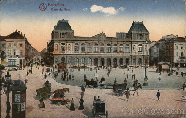 Gare du Nord Brussels Belgium Benelux Countries