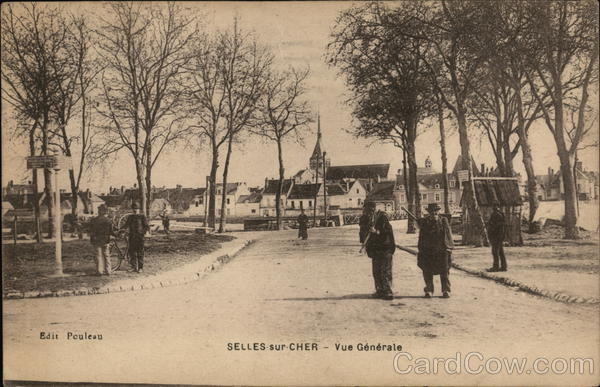 View of Town Selles-sur-Cher France