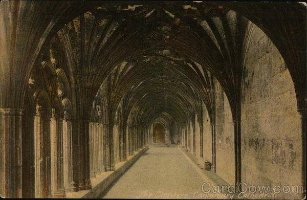 The Cloisters, Canterbury Cathedral England Kent