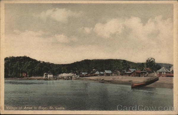 Village of Anse la Raye, St. Lucia St. Lucia (British West Indies)