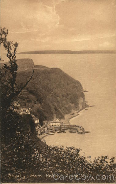 Clovelly from Hobby Drive England