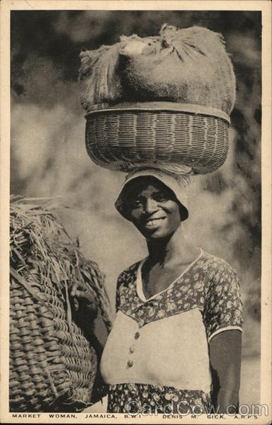 Market Woman Jamaica British West Indies Caribbean Islands