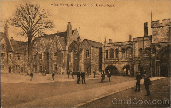 Mint Yard, King's School Canterbury England Kent