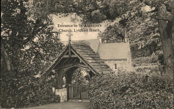 St. Aldhelm's Church - Entrance Lytchett Heath England