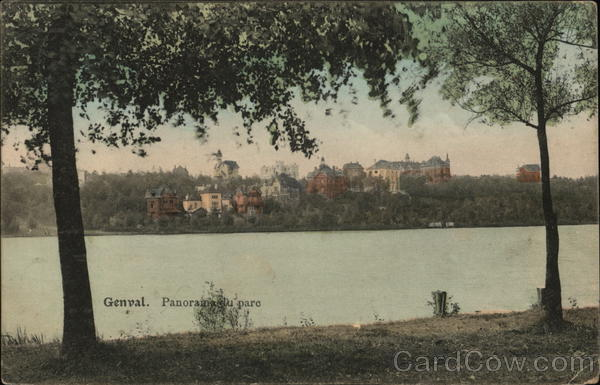 View of Town and Lake Genval Belgium Benelux Countries