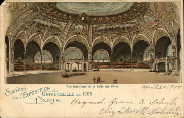 Interior view of the festival hall Paris France