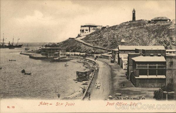 Aden St. er Point Post Office, Bay Aden (Yemen) Middle East