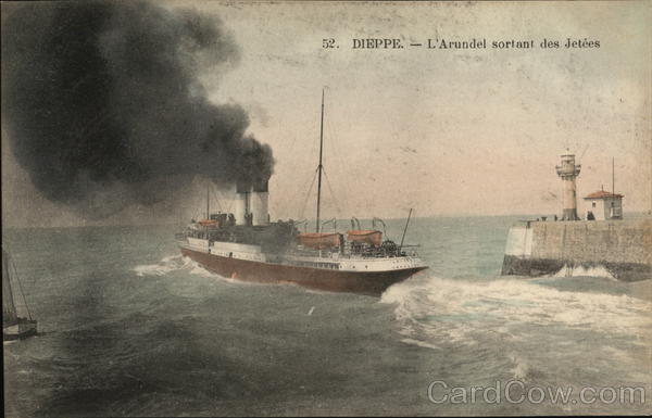 The  Arundel Leaving the Jetties Dieppe France