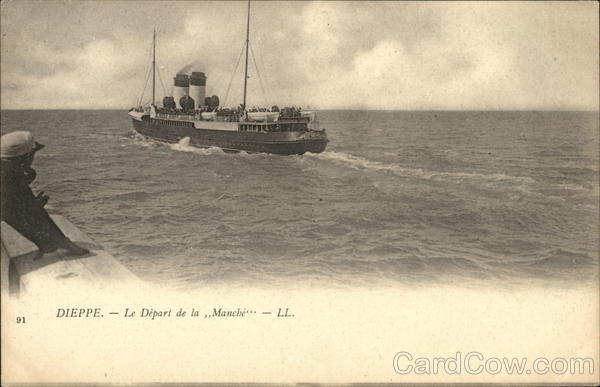 The Manche Departing Harbor Dieppe France