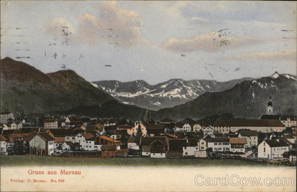 View of Town and Mountains Murnau Germany