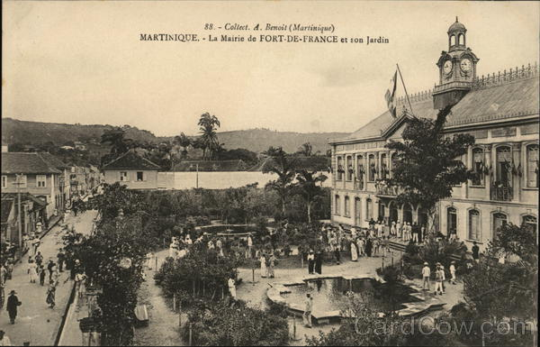 City Hall and Garden Fort-de-France Martinique Caribbean Islands