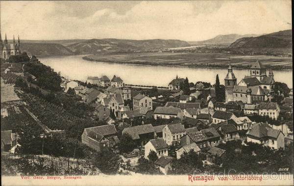 Remagen from Victoriaberg Germany