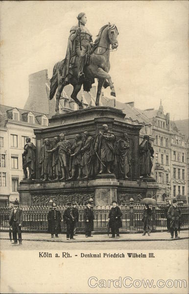 Statue of Friedrich Wilhelm III Cologne Germany
