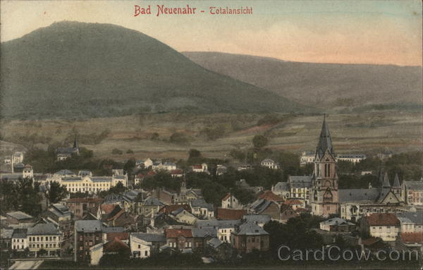 View of Town Bad Neuenahr Germany