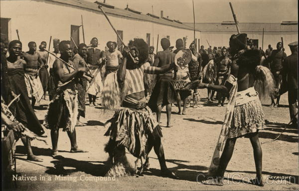 Natives in a Mining Compound South Africa