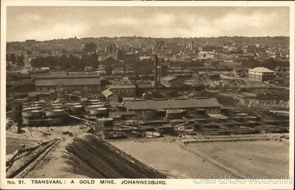 Gold Mine Johannesburg South Africa