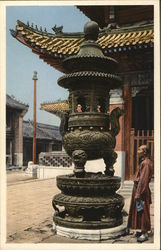 Bronze Incense Burner, Lama Temple Postcard