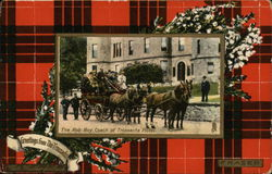 fraser Tartan, White Heather for Luck, Rob Roy Coach at Trossachs Hotel Postcard