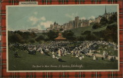 The Band in West Princes St. Gardens Postcard