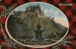 The Ross Fountain & Edinburgh Castle Postcard