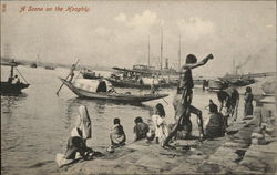 Boats and People on the Banks of the Hooghly