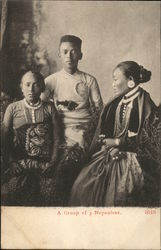 A Group of 3 Nepaulese