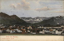 View of Town and Mountains