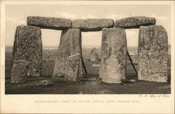 Stonehenge - Outer Circle with Friar's Heel Postcard