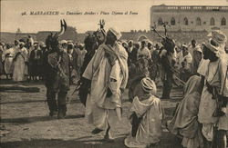 Marrakesh - Arab dancers - Djema el Fena Plaza