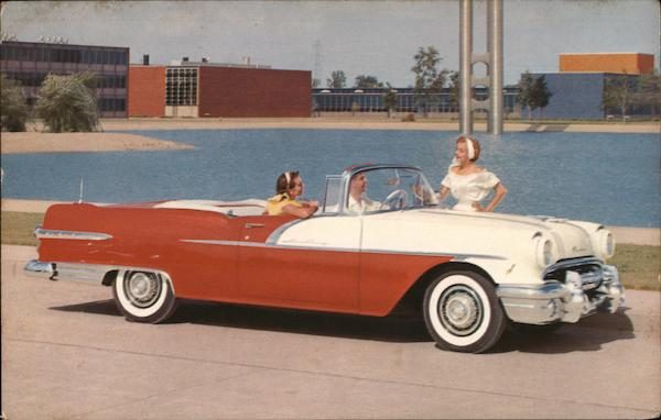 1956 Pontiac Star Chief Convertible Couple Cars