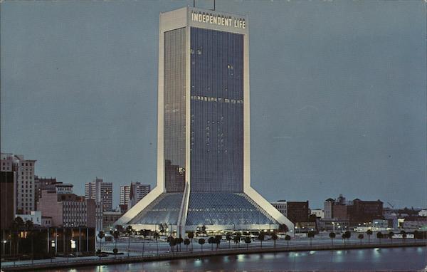 Independent Life Insurance Building Jacksonville Fl Postcard