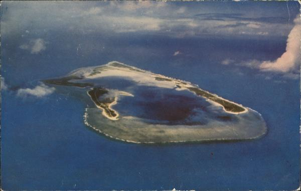 Aerial View of Island Wake Island South Pacific