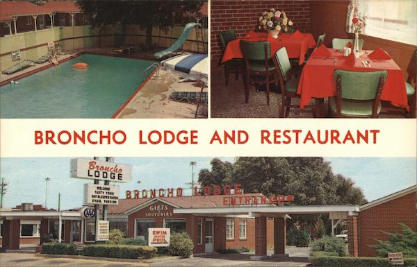 Broncho Lodge and Restaurant Amarillo Texas