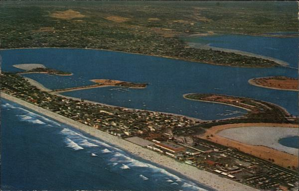 Aerial View Mission Beach California Howard J. Scheld