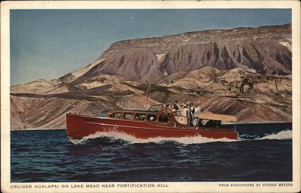 Cruiser Hualapai on Lake Mead Near Fortification Hill