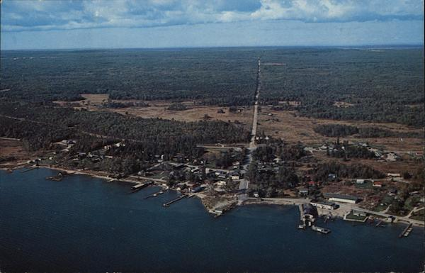 Aerial View Hessel Michigan