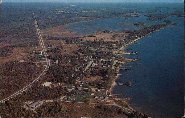 Aerial View of Hessel, Michigan
