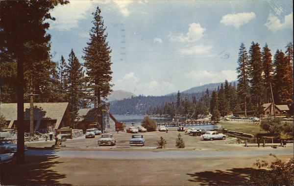 Overall View of Buildings and Lake Hume Lake California