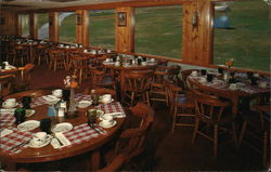 Pleasant Mountain Chair Lift Restaurant Postcard