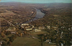 Aerial View of Shepherd College and Potomac River