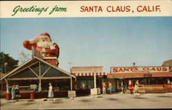 Greetings from Santa Claus California Postcard