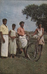 Foursome with Bicycles - Youths from Jaftna, Ceylon