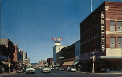 Looking down Front Street, the center of the Retail Business Section