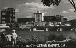 Business District of Cedar Rapids Iowa