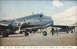 The Historic Southern Cross on the Tarmac with One of BCPA's DC-6's