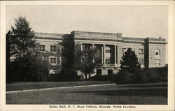Ricks Hall, North Carolina State College