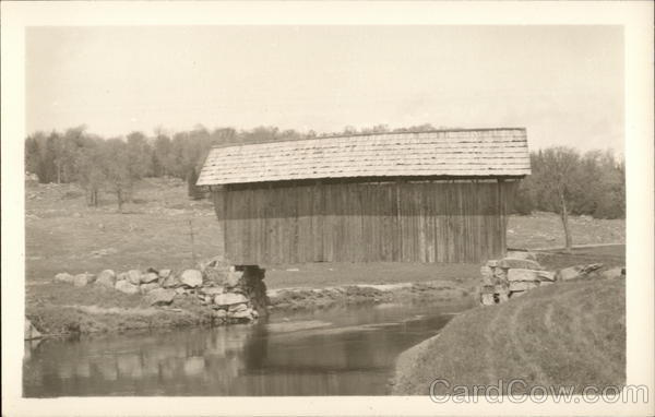 Plainfield Covered Bridge Over Stream Vermont